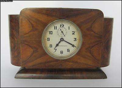 19C. ANTIQUE ALARM CLOCK – REPETITION IN ORIGINAL MAHOGANY FRAME BOX