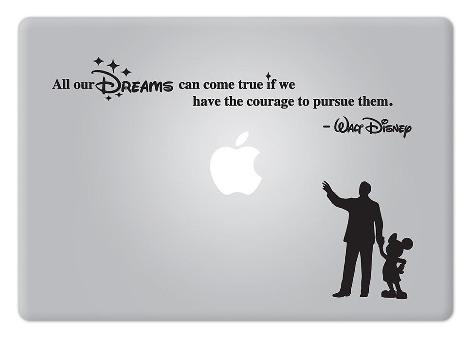 Walt Disney Quote V2 All our Dreams Apple Macbook Laptop