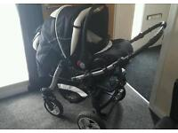 3 in 1 pushchair with car seat