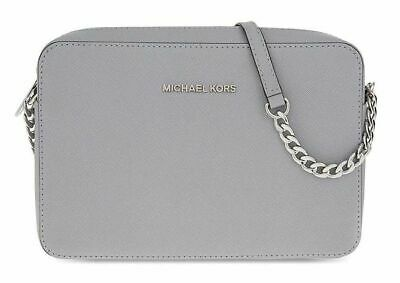 MICHAEL KORS Jet Set Travel Medium Crossbody, Pearl Grey, 32T6STVC6L