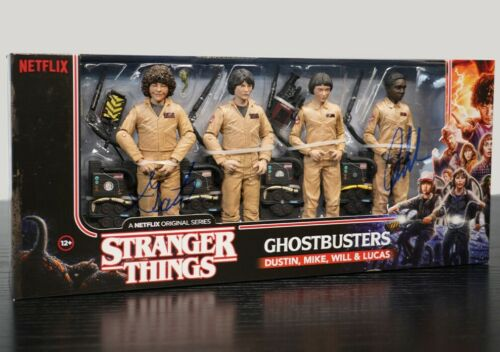 Stranger Things Action Figure Set Signed by Gaten & Caleb 100% Authentic