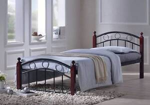 【Brand New】Austin Metal Bedframe With Timber Legs Queen Nunawading Whitehorse Area Preview