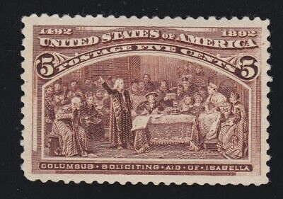 US 234 5c Columbian Exposition Mint VF OG NH SCV $140