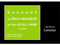 Full body MASSAGE by MALE Masseur to Your HOTEL/HOME in LONDON (Outcall Only)