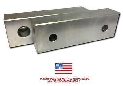 6 X 2 X 1 Machined Aluminum Vise Soft Jaws For Kurt 6 Vises Free Ship 6x2x1
