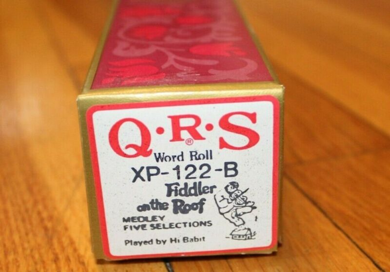 QRS Player Piano Word Roll - Fiddler On The Roof Medley XP-122-B