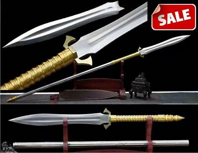 High Quality Chinese Wu Shu Spear Kung Fu Sword HRC60 High Manganese Steel Blade