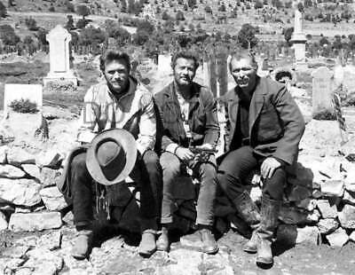 ANTIQUE REPRODUCTION 8X10 PHOTOGRAPH CAST THE GOOD THE BAD AND THE UGLY