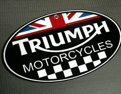 Triumph Motorcycle logo sign