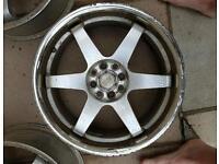 4x100 4x108 17 inch alloy wheels rota grid style honda golf astra fiesta focus