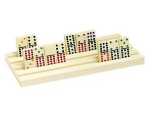 2 Piece Domino Plastic Racks Dominoes Tile Trays Holders All Tile Size