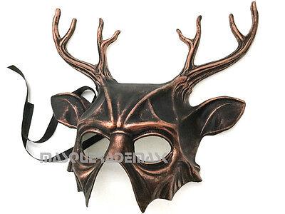 Doe Deere Halloween (Buck Doe Deer Masquerade Antler Horns Mask Halloween Costume Haunt House)