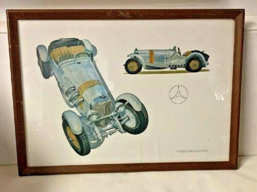 Vintage Mercedes Benz SSK Print Road & Track Framed Original Litho