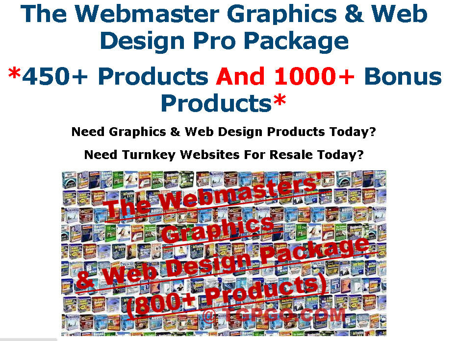 The Webmaster Graphics and Web Design Pro Package With Resell Rights - CD/DVD