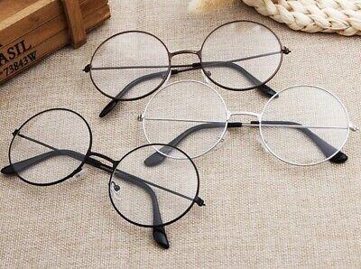 Klare NERDBRILLE  Vintage Rund Brille Klarglas Oversize Unisex Modern Brille #1