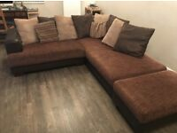 Corner sofa Brown/ Great condition/ can deliver
