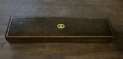 Gucci Brown Watch Box Jewelry Display Case ~ Vintage Box Only