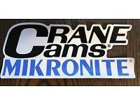 Stickers Crane Cams Mikronite Decal Sticker NHRA NASCAR Vintage Racing Pair 2