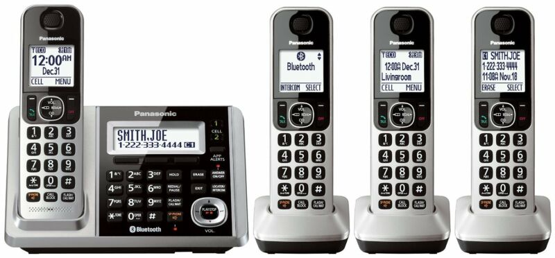 Panasonic KX-TGF374S Link2Cell Bluetooth Cordless Phone System with 4 Handsets