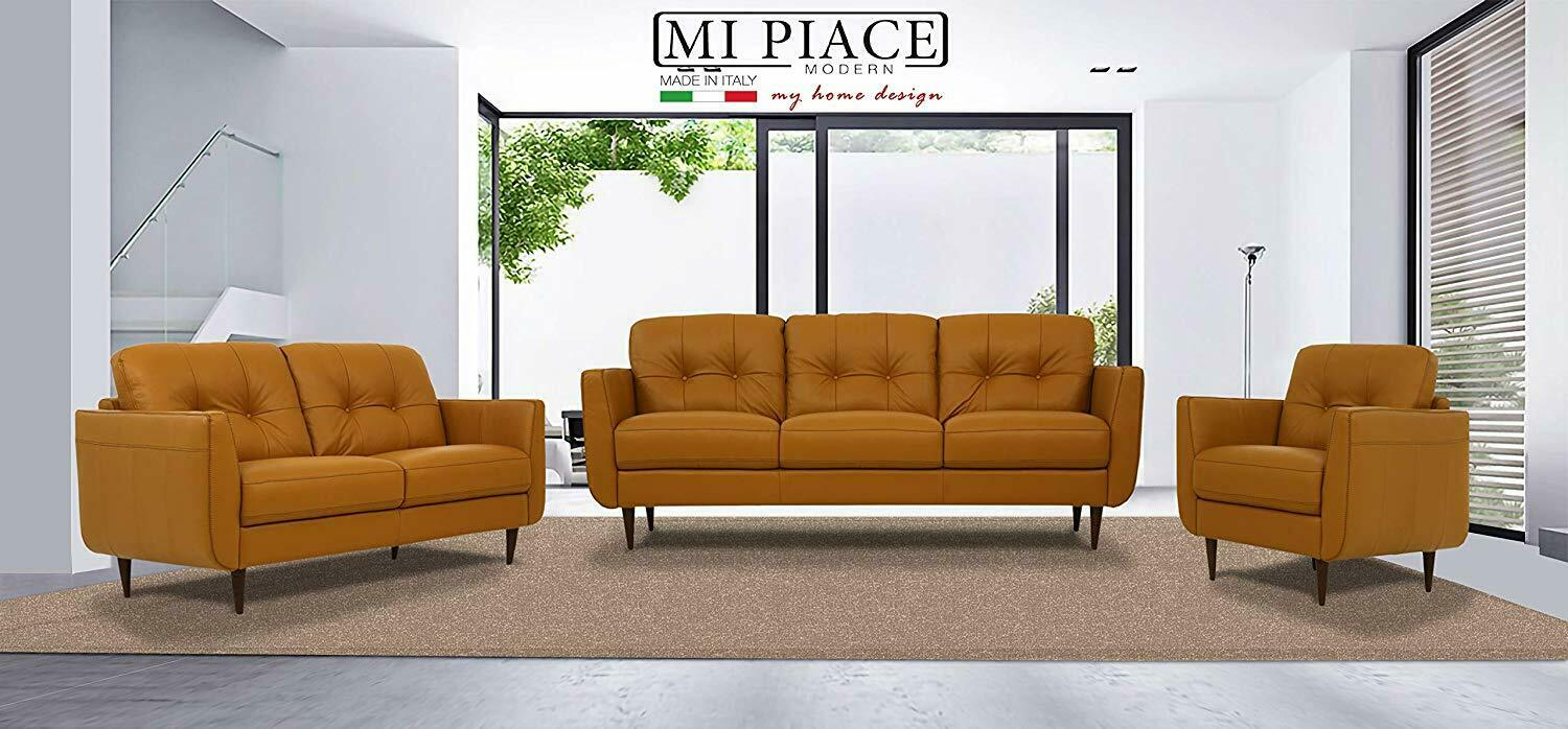 Acme Furniture Radwan Sofa and Loveseat Carmel Italian Leath