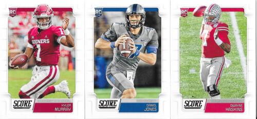 2019 Score Football Rookie Set #331-440 - Murray, Haskins, Bosa, Jones, Stidham