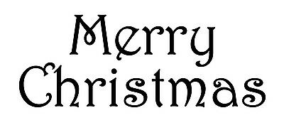 Merry Christmas Style #1 Harrington Font Vinyl Wall Art Decal Removable ()