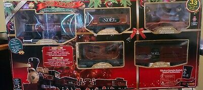 CHRISTMAS NORTH POLE EXPRESS MUSICAL TRAIN SET, WIRELESS REMOTE-33 PC-EZTEC