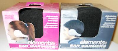 Ear Warmers Black One Size Women Men Unisex Behind The Head Fleece Fabric