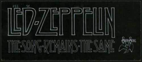Led Zeppelin-1976 Original World Premiere Movie Ticket-THE SONG REMAINS THE SAME