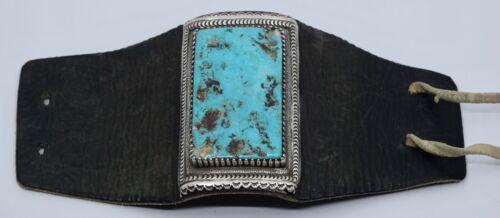 HUGE Native American, Navajo Ketoh Bow Guard bracelet Turquoise slab sterling