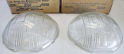1936 Oldsmobile 36-38 Pierce Arrow Multibeam Headlamp Lens set 919661 + 919662