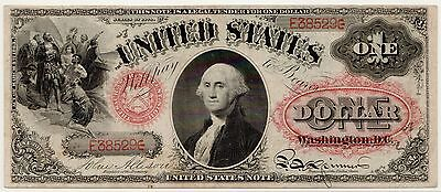 Fr.19 1874 $1 Legal Tender Note PCGS VF-30, Beautiful & Rare Large LTN [3024.27]