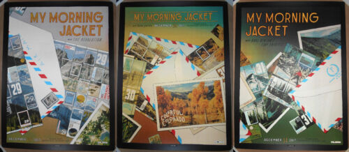 My Morning Jacket 3 Poster SET 2017 Broomfield CO NYE Landland Print Signed #d