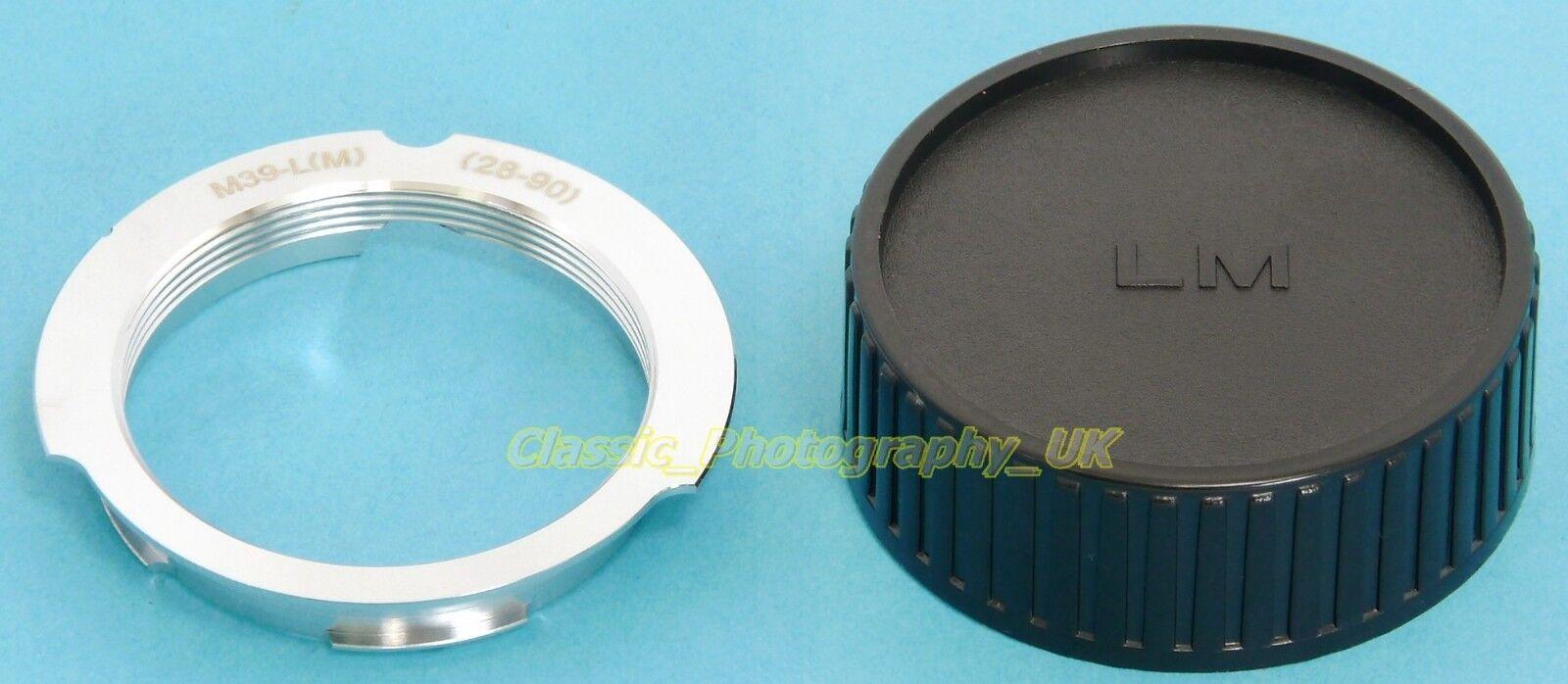 LEICA Screw to LEICA M Adapter 28-90mm LTM Lenses on Leica M Camera as M8 M7 M6
