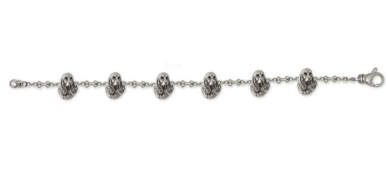 Springer Spaniel Bracelet Jewelry Sterling Silver Handmade Dog Bracelet SS4-BR