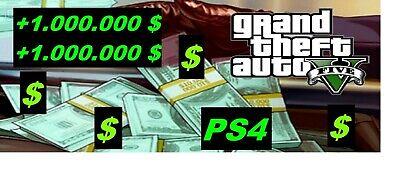 dinero gta 5 ps4 online +1.000.000 $ - Contactar antes de comprar - Envío gratis segunda mano  Madrid