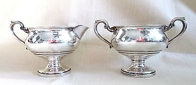 Set of Vintage Fisher Sterling Silver Weighted Creamer & Sugar - 208 grams