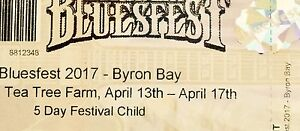 BLUESFEST 5 DAY CHILD TICKET $50 Ormiston Redland Area Preview