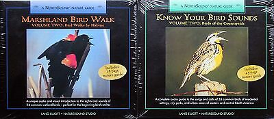 KNOW YOUR BIRD SOUNDS & MARSHLAND Vol  II, 2 different NEW CDs, Lang Elliott