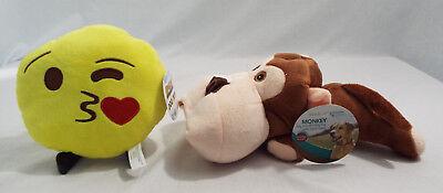 Emoji Expressions Dog Toy + Master Paws Monkey Big Mouth Dog Toy 2 Tennis Balls