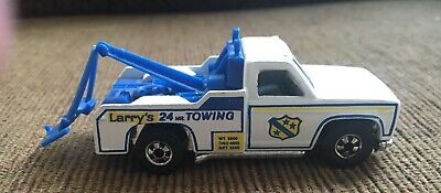 Vintage 1974 Hot Wheels Ramblin' Wrecker Larry's Towing Flying Colors Blackwall