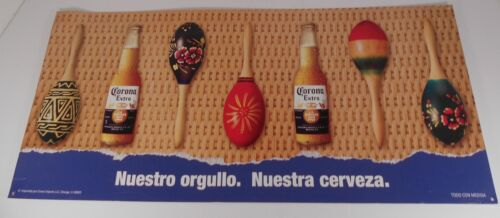 Corona Extra  Beer Sign Featuring Colorful Maracas