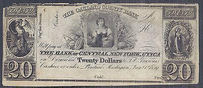 Us Obsolete Currency   Oakland County Bank   Pontiac  Mi    20 Remainder