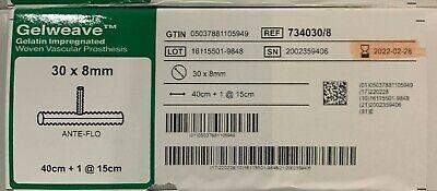 Terumo Vascutek 7340308 Gelweave 30 X 8mm Exp 2022
