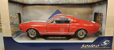 RED 1967 FORD SHELBY GT500 MUSTANG SOLIDO 1:18 SCALE DIECAST METAL MODEL CAR