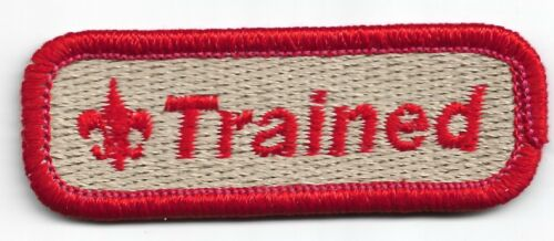 """Boy Scouts """"TRAINED"""" Patch"""