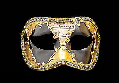 Mask Wolf of Venice Colombine Sinfonia Black Gold for Fancy Dress 795 V82B
