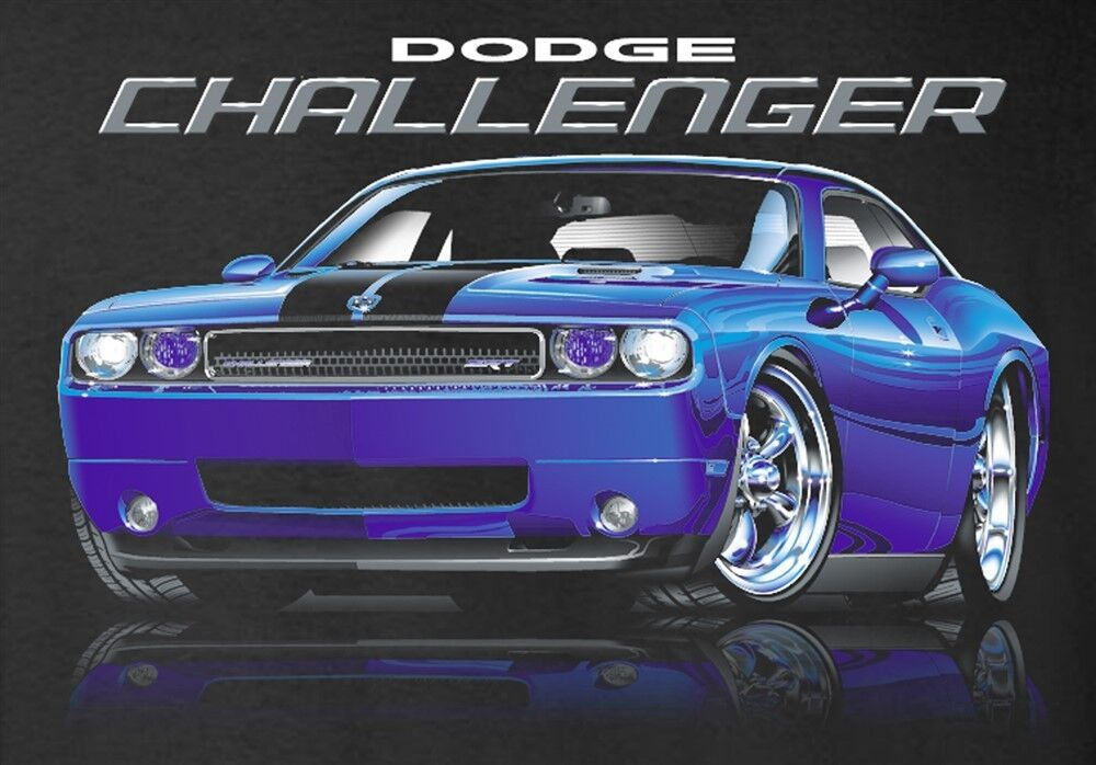 Dodge Challenger SRT T-Shirts - 2008 to 2016 - Mirrored ...