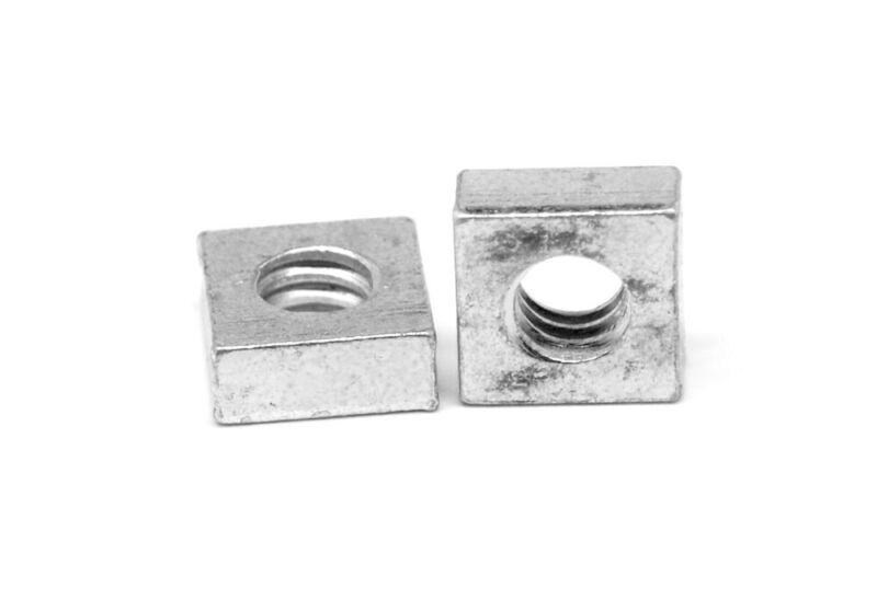 #8-32 Coarse Thread Square Machine Screw Nut Zinc Plated