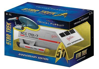 Star Trek 50th Anniversary Limited Edition Trivial Pursuit Game Collectible